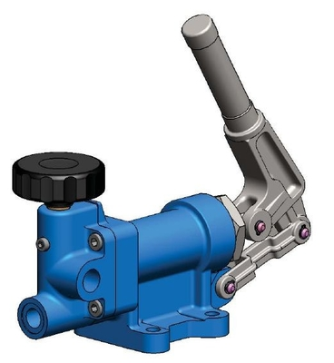 China Blue Low Speed Hydraulic Hand Pump For Quick Oil Output 10000psi 70Mpa supplier