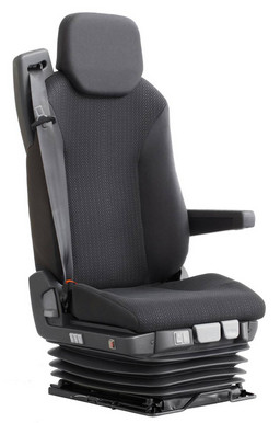 China Three Safety Belt Rear Passenger Seat , Light Grey Shock Absorber Seat supplier