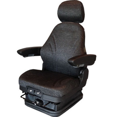 China Wind Proof Black Shock Absorbing Car Seat With Breathable Leather Fabric supplier