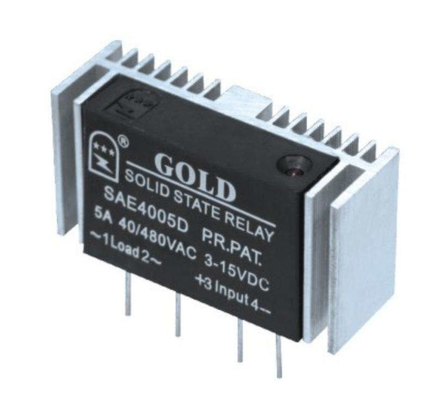 China High Strength Black PCB Mount Solid State Relay With 15A Contact Rating distributor